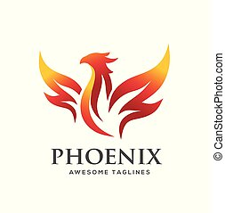 luxury phoenix logo concept