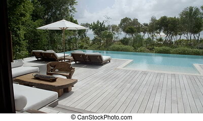 Luxury pool at a resort near the beach