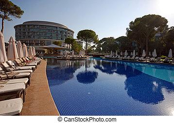 Luxury poolside, Turkey