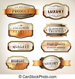 luxury premium quality golden plates collection