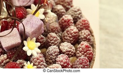 Luxury raspberry tart - raspberry tart by Belgian master...