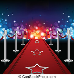 Luxury Red Carpet - Vector illustration of a luxury red ...