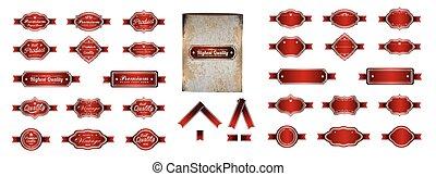 Luxury red silver premium vintage l