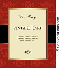 Luxury red vintage card