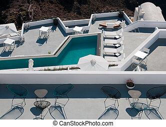 Luxury resort exterior