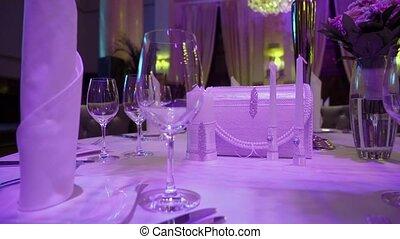 Luxury restaurant interior. Banquet hall