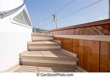 luxury sail boat parts detail