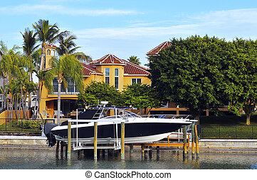 luxury saját, noha, csónakázik