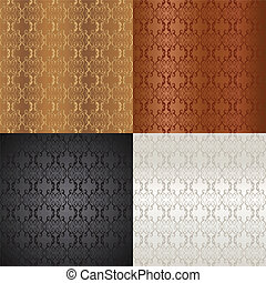 Luxury seamless floral pattern - Four Seamless small floral...