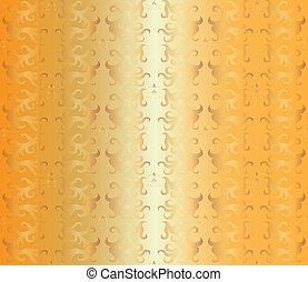 Luxury seamless golden floral