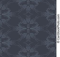 Luxury seamless grey wallpaper - Luxury seamless grey floral...