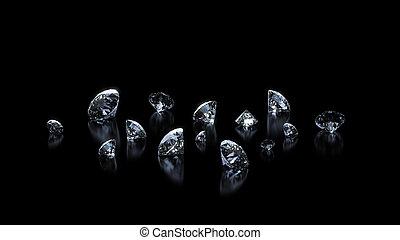 Luxury shining diamonds background