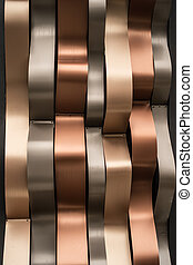 Luxury shiny golden, silver and rusty modern wall background