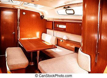 Luxury ship interior