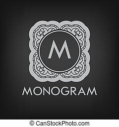 Luxury, simple and elegant monochrome monogram design ...