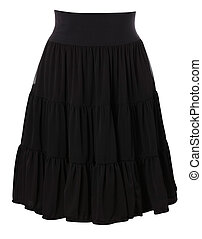 Luxury skirt isolated on the white background