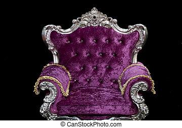 Luxury sofa In black background
