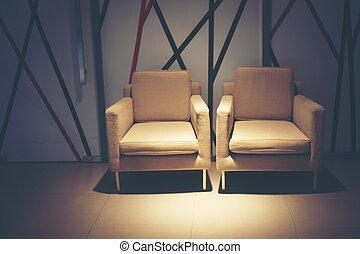 Luxury sofa in the hotel