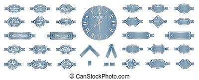 Luxury soft blue premium vintage la
