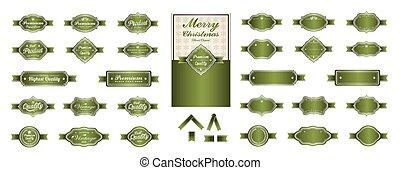 Luxury soft green premium labels