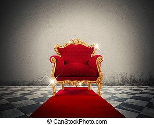 Luxury sparkling armchair