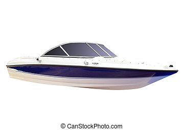 luxury speed boat isolated