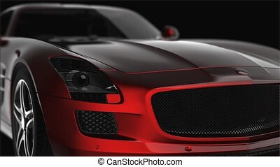 luxury sport car in the dark
