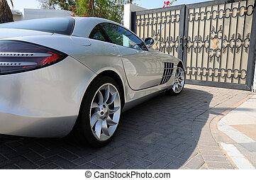 Luxury sports car Mercedes Benz SLR McLaren in Dubai