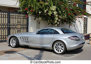 Luxury sports car Mercedes Benz SLR McLaren in Dubai