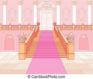 Luxury staircase in the magic palace