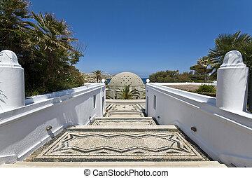 Luxury summer resort at Kalithea, Rhodes island in Greece