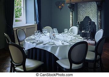 luxury table in room
