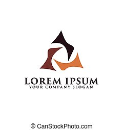 luxury triangle abstract logo design concept template