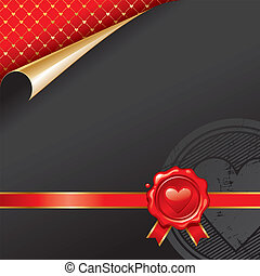 Luxury vector design with Valentines wax seal