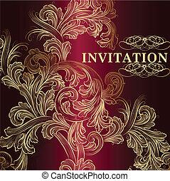 Luxury vector invitation card