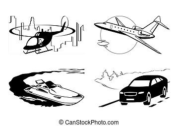 Luxury vehicles by air water and on the road