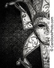 Luxury Venetian mask - Detail of a beautiful luxury Venetian...