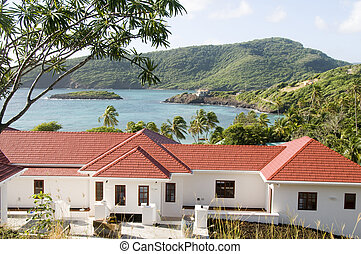luxury villa house residence over industry bay bequia island st. vincent and the grenadines caribbean island