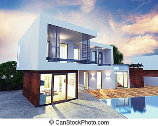 Luxury villa - Project of a luxury villa under construction