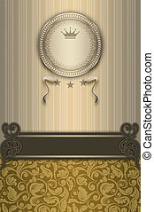 Luxury vintage background with decorative frame.