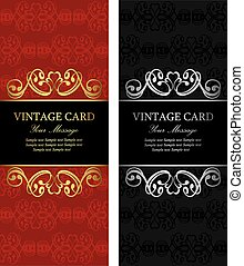 Luxury vintage cards