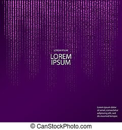 Luxury violet pattern. Abstract purple background. Vector illustration. Lilac foil. Glitter texture. Element for poster,
