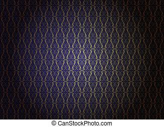 Luxury Wallpaper - Vintage Wallpaper - Golden Ornaments on...