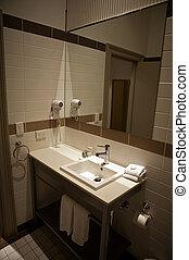 Luxury washing basin in bathroom
