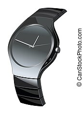 luxury watch vector isolated on a white background