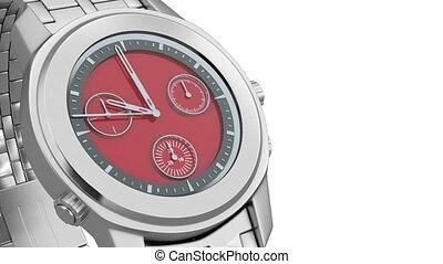 Luxury watch - Close-up of luxury chronograph wrist watch