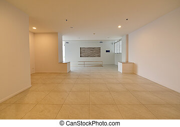 Luxury white empty room with free space, interior design