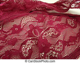 Luxury Woman Claret Lingerie Lace