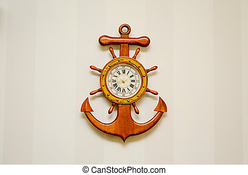 clock in the form of a sea anchor
