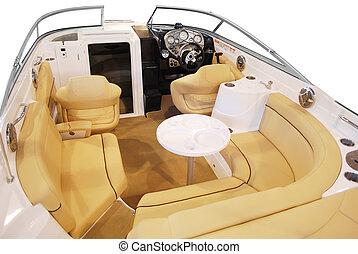 luxury yacht cabin interior